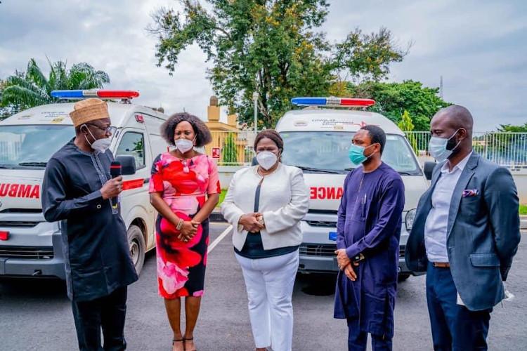 Ekiti COVID-19: MTN Nigeria Gifts Ekiti State Govt Ambulances (Photos)