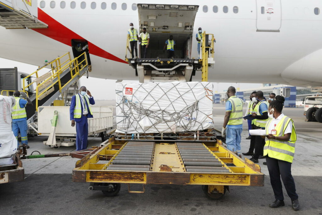 COVID-19 Vaccine Doses Shipped by the COVAX head to Ghana, marking beginning of global rollout