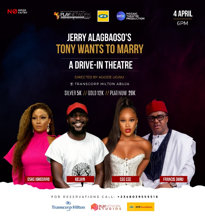 "MTN Foundation Sponsors ""Tony Wants to Marry"" Drive-In Theatre Performance Brandnewsday"