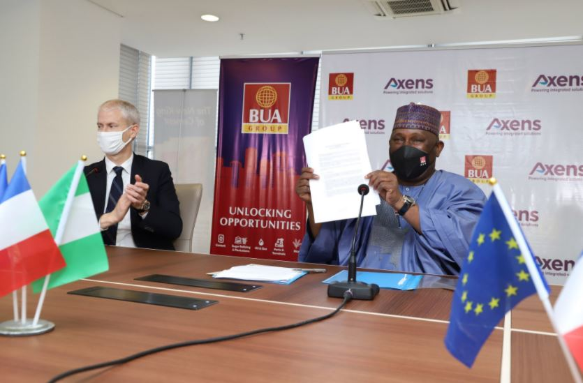 Pres. Macron Lauds Abdul Samad Rabiu As BUA Signs Refinery Deal With Axens