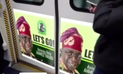 Bola Tinubu Campaign Posters In London