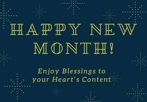 Happy New Month Messages September
